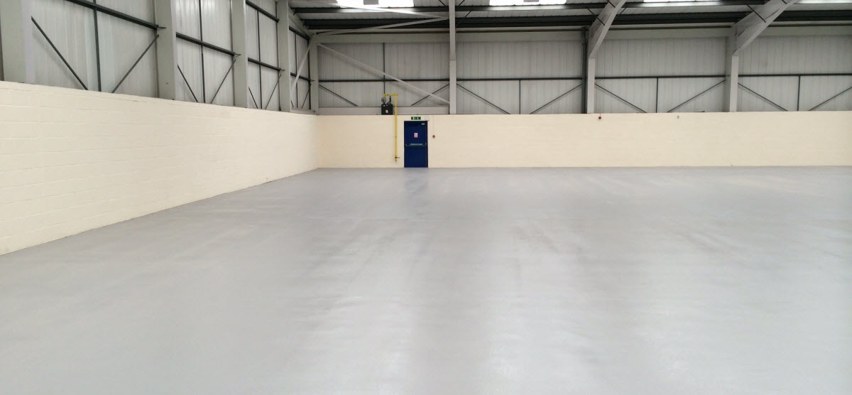New Resin flooring at Cambridge bus depot