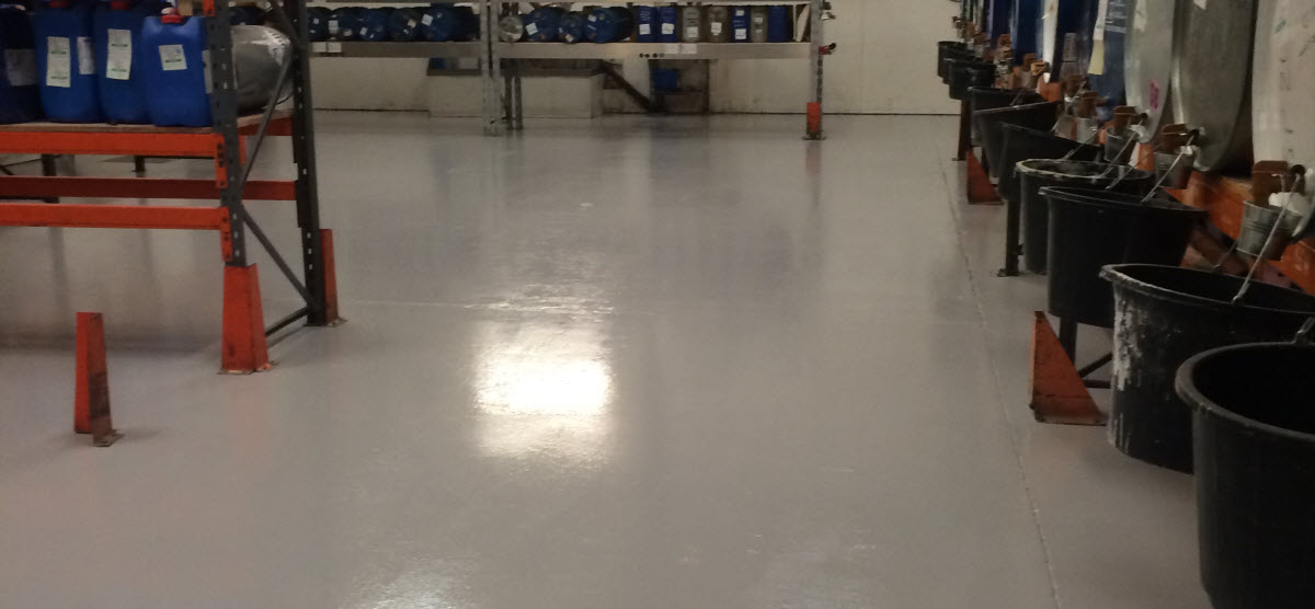 Resin flooring to Production area at AFF, Elmswell