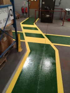 Warehouse floor Resin paint coat applied to Attleborough warehouse floor